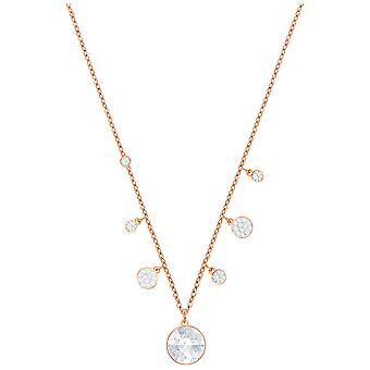 Swarovski Lucy Round Necklace - White - Rose Gold Plating - 5394967