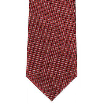 Michelsons of London Micro Semi Plain Polyester Tie - Red