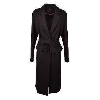 Pinko women's 1N11ZU7045Z99 Black wool trench coat