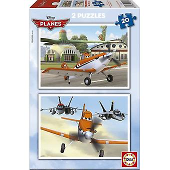 Educa Puzzle Planes 2x20 Pieces (Babies and Children , Toys , Boardgames , Puzzles)