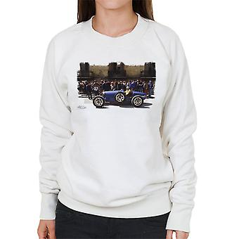 Bugatti Type 3 Racing Car White Women's Sweatshirt