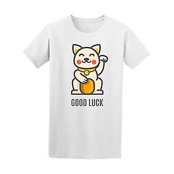 Lucky Cat Maneki Neko Gold Coin Tee Men's -Image by Shutterstock