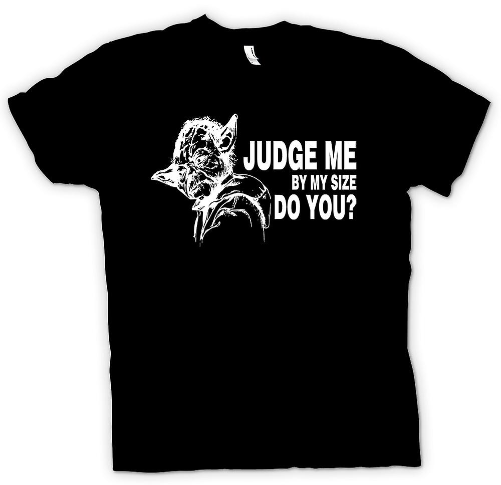 Womens T-shirt-Funny juge Me - Star Wars - Yoda