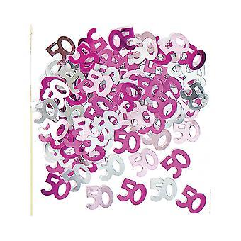 Birthday Glitz Pink - 50th Birthday Confetti
