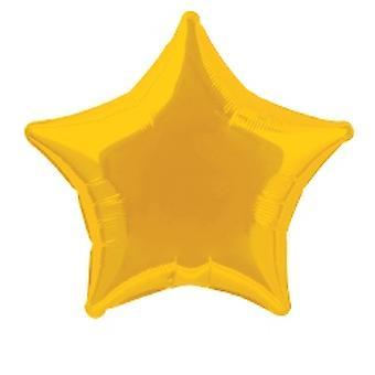 Foil Balloon Star Solid Metallic Gold