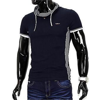 Men's Metrostyle T-Shirt V neck Polo stretch slim fit Hollywood clubwear T-shirt