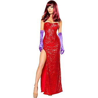 Roma RM-10088 2pc conigli amante lunghe Womens Dress Costume