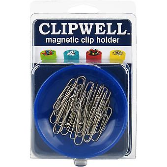 Clipwell Magnetic Clip Holder-Blue