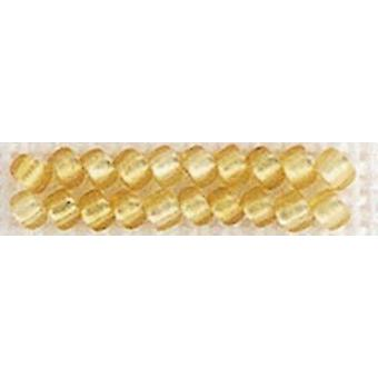 Mill Hill Frosted Glass Seed Beads 2.5mm 4.25g-Gold