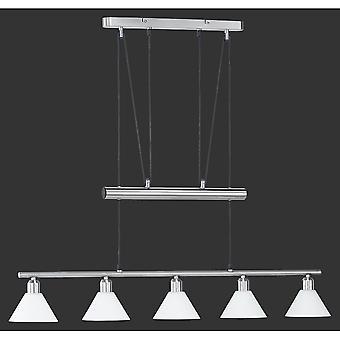 Trio belysning uthållighet Modern Nickel Matt metall hänge
