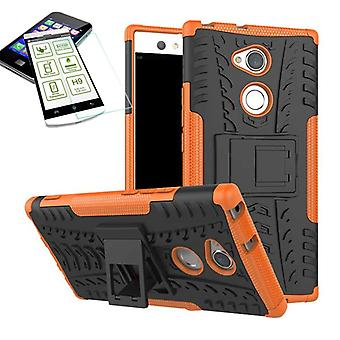 Hybrid Case 2teilig Orange für Sony Xperia XA2 Ultra Tasche Hülle + Hartglas Neu