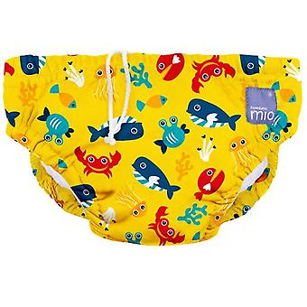 Bambino mio Diaper Reusable Swimsuit Yellow Sea Medium 1-2 Months