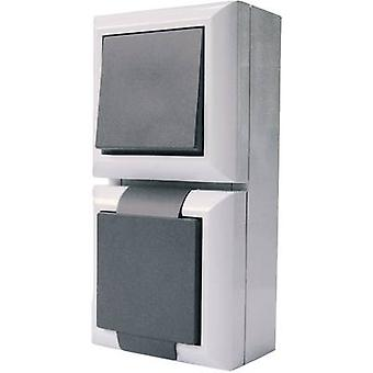 GAO Switch/socket combo forretningsområde grå 9171