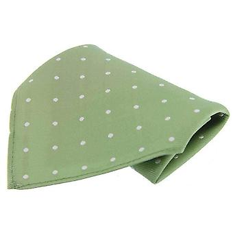 David Van Hagen Polka Dot zakdoek - Lime/wit
