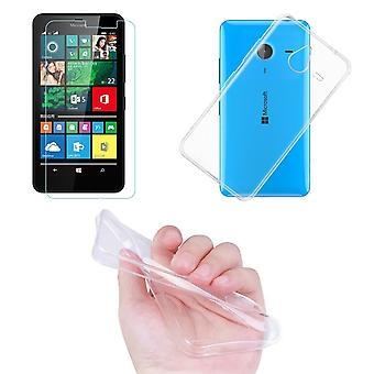 Microsoft Lumia 640 XL mobil cover lomme ultra tynde kun 0,3 mm tilfælde dække ærme shell + tank glas ægte glas skærm beskyttelse