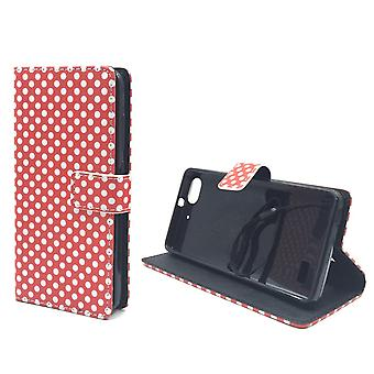 Mobile phone case pouch for mobile Huawei G play mini polka dot Red