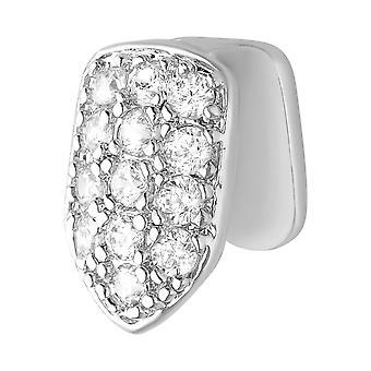 Одноместный 10x7mm bling плесень цирконий гриль - зуб вложение серебро