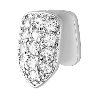 Enda 10x7mm bling mögel cubic zirconia Grill - tand bilaga silver