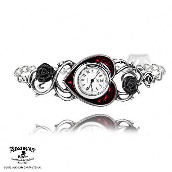 Alchemy Gothic Bed Of Blood Roses Watch
