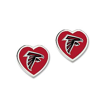 Wincraft ladies 3D heart Stud Earrings - NFL Atlanta Falcons