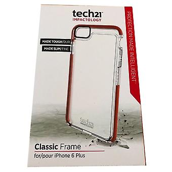 Genuine Tech21 Classic Frame Case for iPhone 6 Plus (5.5 inch)/ iPhone 6S Plus (5.5 inch) - Clear (T21-4287)