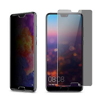 Huawei P20 per Visa skydd bepansrade skydd glas anti-spion film 9 H - 2 stycken