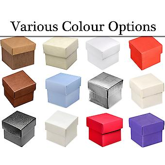 10 Boxes with Lids Card Gift Boxes - Wedding Party Favours
