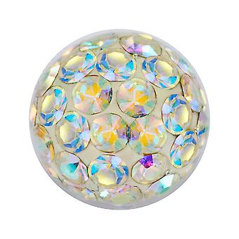 Piercing Replacement Ball, Multi Crystal Stones Aurora Borealis | 4, 5 and 6 mm