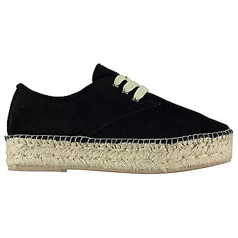 Steve Madden Womens Phylicia Espadrilles Lace Up Shoes Stitched Detailing