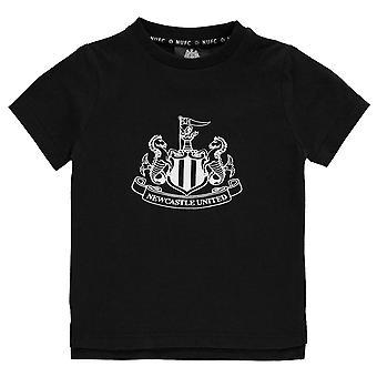 NUFC Kids Crest Tee Childs Crew Neck Shirt