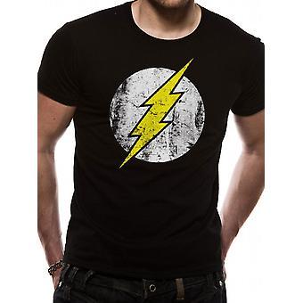Flash - T-Shirt postarzonym Logo (Unisex)