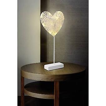 Polarlite 1233510 LED dekoracja Świąteczna serce ciepły biały LED biały