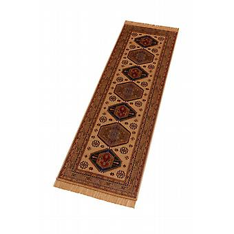Afghan Kazak Artificial Silk Hall Runner Rugs 9379/4