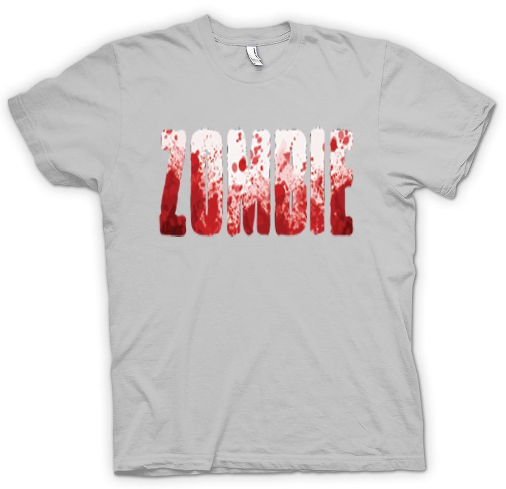 Mens T-shirt - « Zombie » éclaboussé lettrage