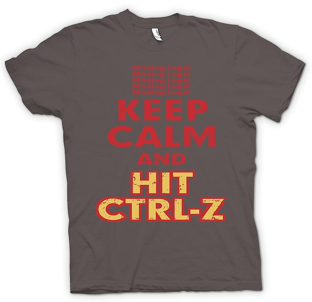 Womens T-shirt - Keep Calm And Hit Ctrl - Z