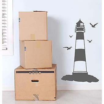 Lighthouse Seagulls Wall Sticker