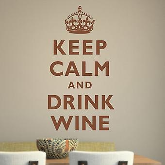 Keep Calm and Drink Wine wall decal sticker