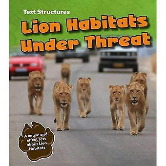 Lion uhanalaisia elinympäristöjä: Syy ja vaikutus tekstin (teksti rakenteet)