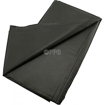 Pack of 2 Table Covers Plastic Black 54inch x 54'inch Reusable Table Cloth