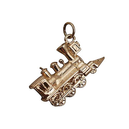 9ct Gold 16x27mm solid Steam Locomotive charm