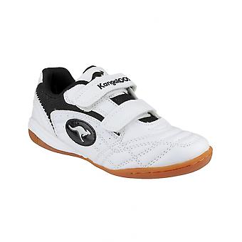 KangaRoos KR10704 Backyard Childrens Shoe White/Black / Boys Trainers
