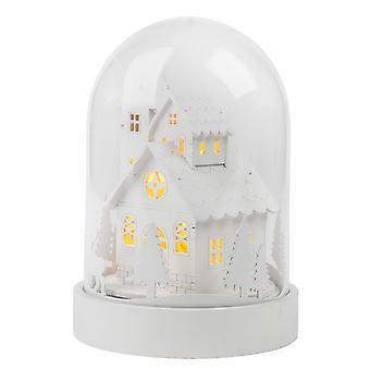TRIXES LED Light Up vit trä träd och rådjur scen dekoration
