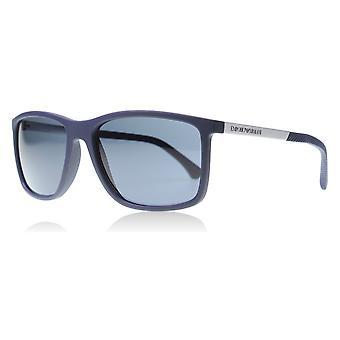 Emporio Armani EA4058 547487 Matt blå EA4058 kvadrat solbriller linse kategorien 3 størrelse 58mm