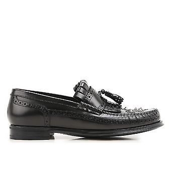 Dolce E Gabbana Black Leather Loafers
