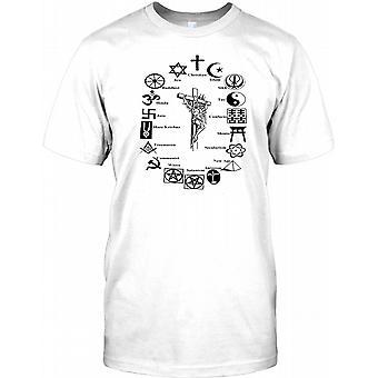 Världens religioner jämförelse - barn T Shirt
