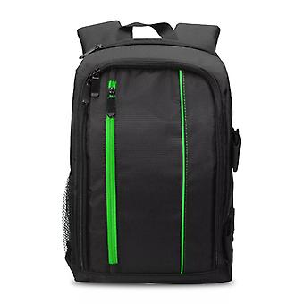 Spacious camera bag with Raincover, Green