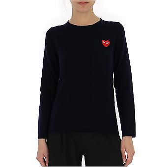 Comme Des Garçons Blue Cotton Sweater