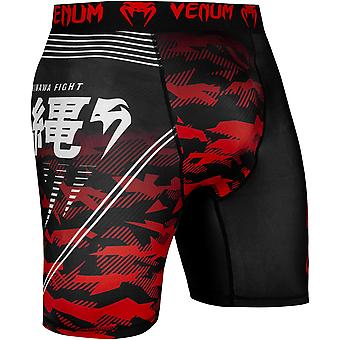 Venum Okinawa 2.0 Compression Shorts - Black/White/Red