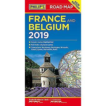 Philipps Straßenkarte Frankreich und Belgien von Philipps Karten - 9781849074377