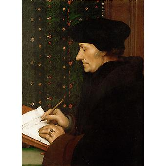 Portrait of Erasmus of, Hans Holbein the Younger, 36.8 x 30.5 cm